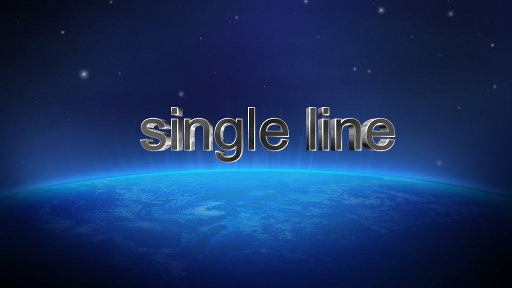 single Line Text Logo