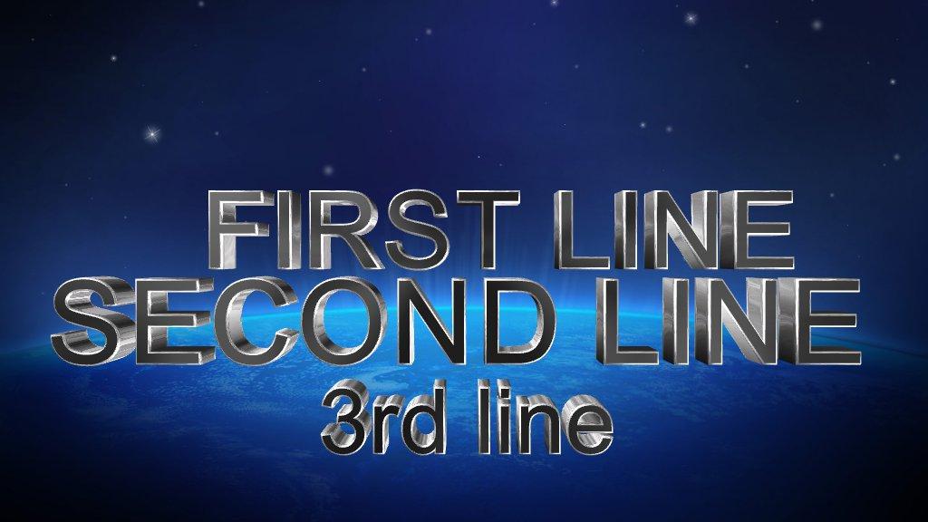 3 Line Text Based Logo