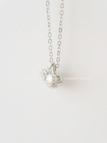 Brass Silver Plated Universe Planet Saturn Asteroid Necklace