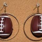 Football Hoop Ear Rings