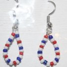 Tear Drop Shaped Beaded Ear Rings