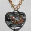 Colorful Heart Necklace on Gold Chain1