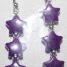 Purple Star Ear Rings