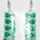 Green/Clear Tower Stacked Ear Rings