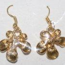 Gold Plated Flower Design Ear Rings