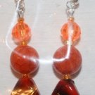 Elegant 35 Red Orange and Black Ear Rings