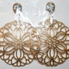 Elegant 50 Gold Sand Dollar Ear Rings