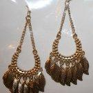 Elegant 56 (7 Dangly Leaf) Gold Ear Rings