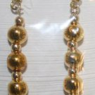 Elegant 79 Large and Small Gold Beaded Ear Rings (3)