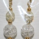 Elegant 100 (3 Crystals) with Gold Bead Ear Rings