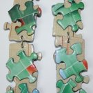 Puzzle Ear Rings (Blues,Greens, Orange and Beige colors)