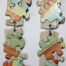 Puzzle Ear Rings (Orange, Yelow, Green, Red and Beige)