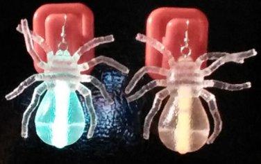 Glow n the Dark SPIDER Ear Rings