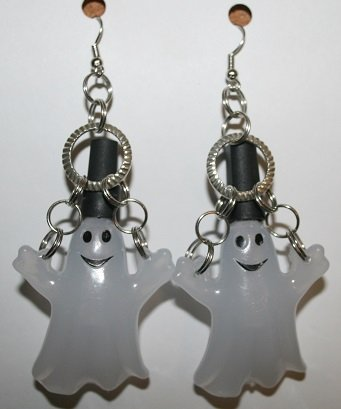 Glow in the Dark Ghost Halloween Ear Rings