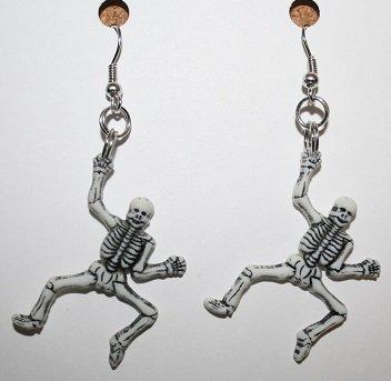 Full Skeleton Ear Rings (Small) (Halloween)