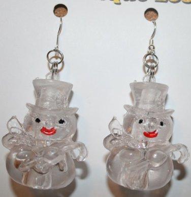 Glow in the Dark Snowman Ear Rings (Christmas or Winter )