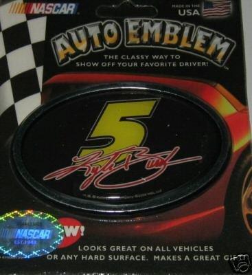 Kyle Busch NASCAR 3-D Color Chrome Auto Car Emblem