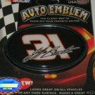 Jeff Burton NASCAR 3-D Color Chrome Auto Car Emblem