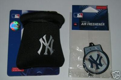 New York Yankees Auto/Car Pouch Organizer & Air Freshener Gift Set
