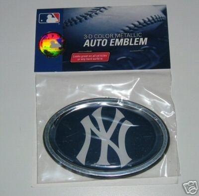 New York Yankees 3-D Color Chrome Auto/Car Emblem Gift