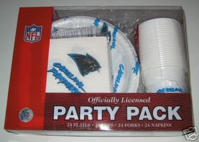 Carolina Panthers 96pc Party Pack Cups Plates Napkins