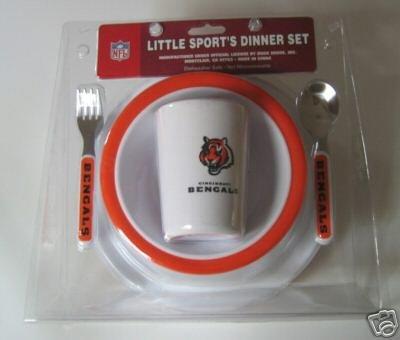 Cincinnati Bengals Baby Kids Dinner Set Gift