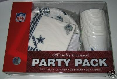 Dallas Cowboys 96pc Party Pack Cups Plates Napkins