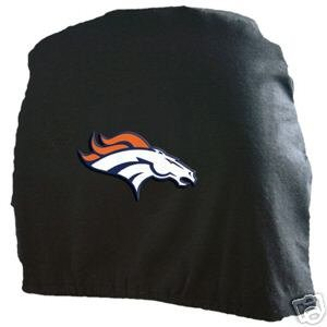 Denver Broncos Auto Car Head Rest Covers Set Gift