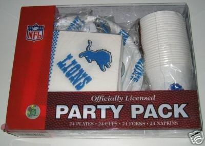 Detroit Lions 96pc Party Pack Cups Plates Napkins