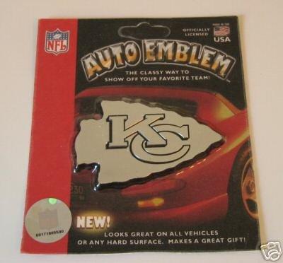 Kansas City Chiefs Chrome Auto Car Emblem Logo Gift