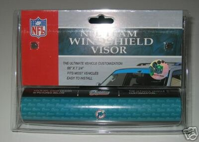 Miami Dolphins NFL Car Winshield Sun Visor Logo Film Gift