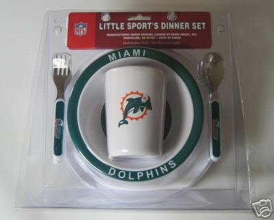 Miami Dolphins Baby Kids Dinner Set Gift