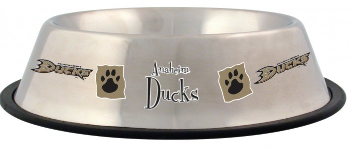 Anaheim Ducks 32oz Stainless Steel Pet Dog Bowl Gift