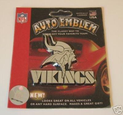 Minnesota Vikings Chrome Auto Emblem Logo Name Gift