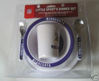 Minnesota Vikings Baby Kids Dinner Set Gift