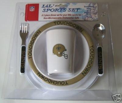 New Orleans Saints Baby Kids Dinner Set Gift