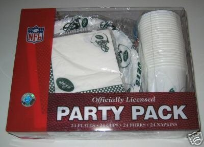 New York Jets 96pc Party Pack Cups Plates Napkins