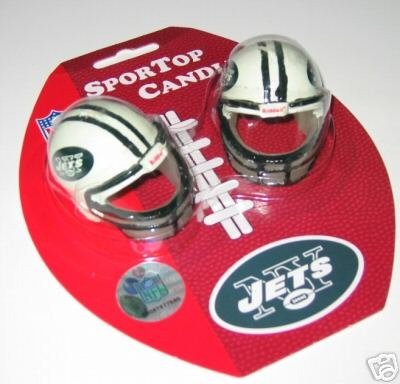 New York Jets Football Helmet Birthday Candle 2-Pack Gift