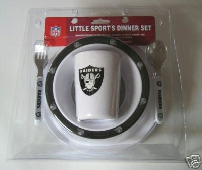 Oakland Raiders Baby Kids Dinner Set Gift