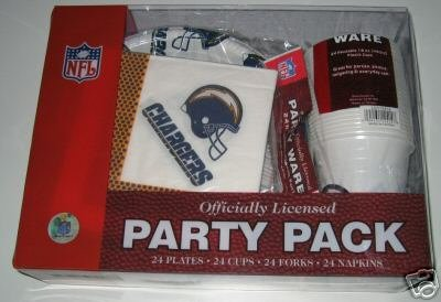 San Diego Chargers 96pc Party Pack Cups Plates Napkins