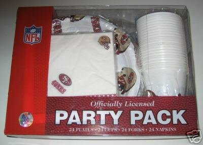 San Francisco 49ers 96pc Party Pack Cups Plates Napkins