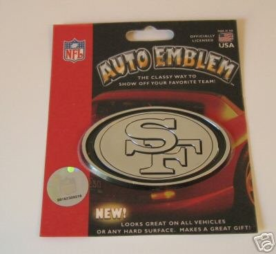 San Francisco 49ers Chrome Auto Car Emblem Logo Gift