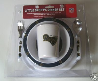 St. Louis Rams Baby Kids Dinner Set Gift