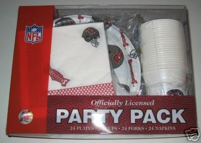 Tampa Bay Buccaneers 96pc Party Pack Cups Plates Napkins