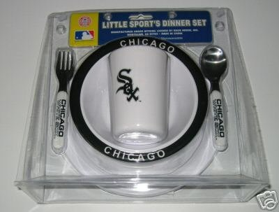 Chicago White Sox Baby Kids Dinner Set Gift