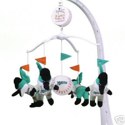 Florida Marlins Musical Baby Crib Mobile Gift