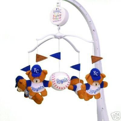 Kansas City Royals Musical Baby Crib Mobile Gift