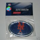 New York Mets 3-D Color Chrome Auto Car Emblem Gift