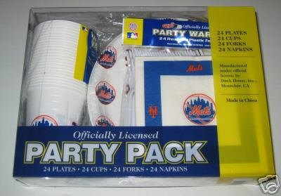 New York Mets 96pc Party Pack Cups Plates Napkins