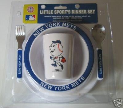 New York Mets Baby Kids Dinner Set Gift